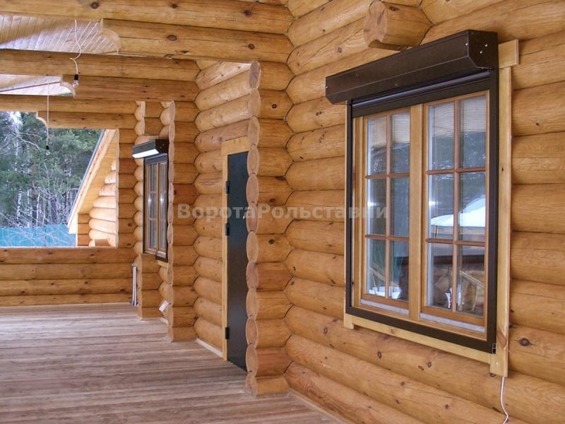 установка рольставни на окна деревянный дом